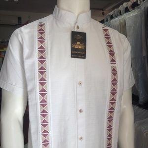 Mexican Guayabera Short Sleeve Fine Linen